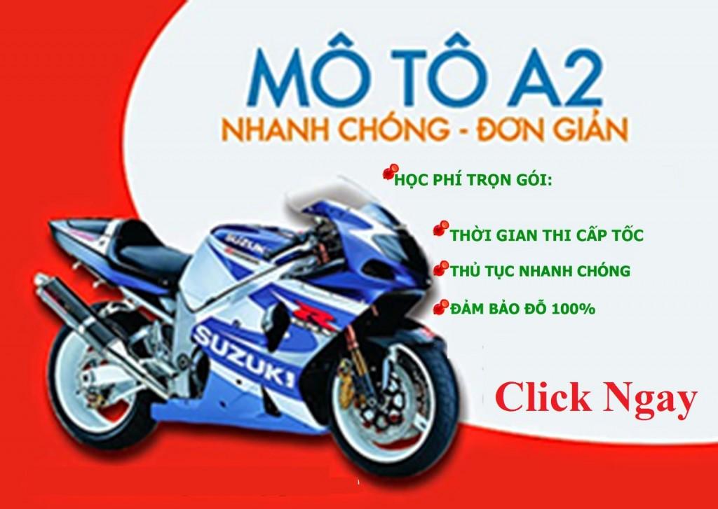 Học lái xe mô tô a2 tại hcm