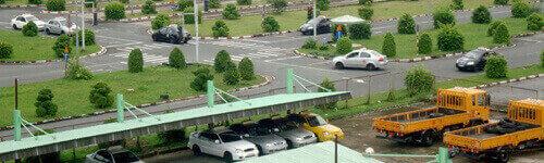 Sân sát hạch dành cho học viên học lái xe ô tô