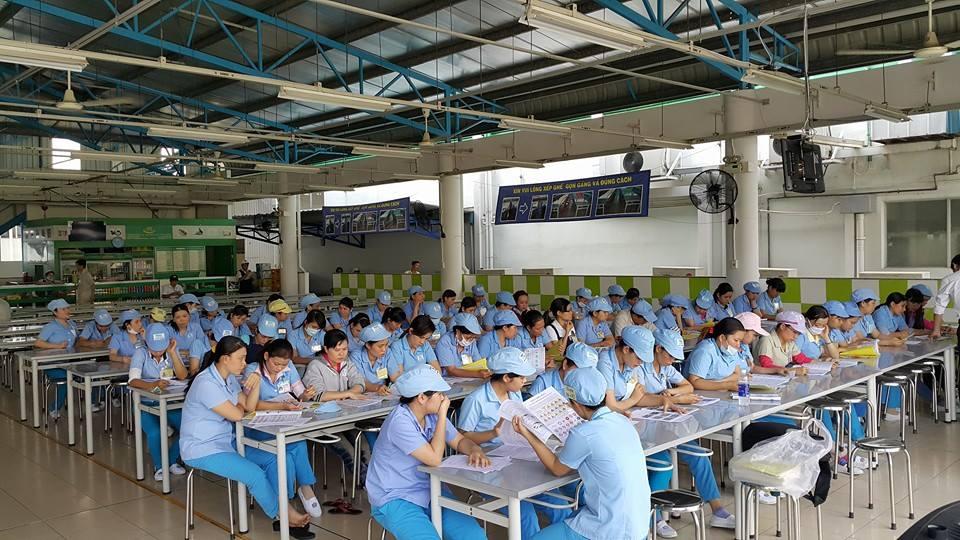 1 lớp học lý thuyết cho cán bộ, nhân viên, công nhân nhà máy sán xuất linh kiện công nghệ Nidec Việt nam tại Khu Công Nghiệp Tân Thuận - quận 7 - TPHCM