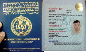 Hình ảnh học viên đổi bằng lái xe quốc tế