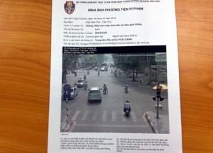 Công an gởi giấy phạt nguội về tận nhà cho phương tiện vi phạm giao thông
