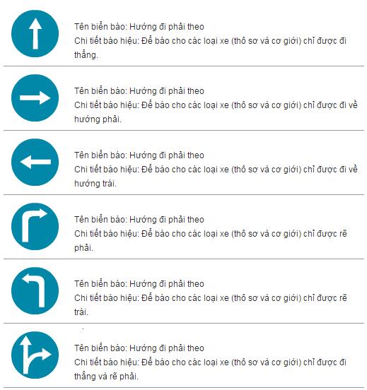Kinh nghiệm lái xe ô tô: biển báo hiệu lệnh