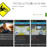 Phần mềm 150 câu hỏi sát hạch thi bằng lái xe máy A1