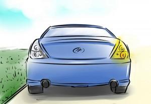 Lùi xe đúng cách cho người mới học lái xe ô tô ra bằng