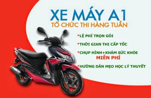 thi bằng lái xe máy TPHCM giá rẻ nhất