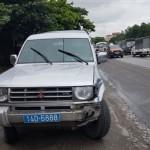 Quãng Ninh: Chết người do va chạm với xe ô tô biển xanh