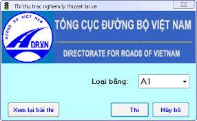 Phần mềm thi bằng lái xe máy a1